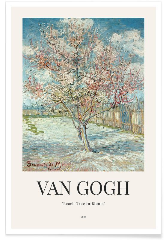 Vincent Van Gogh, Arbres, van Gogh - Peach Tree in Bloom affiche