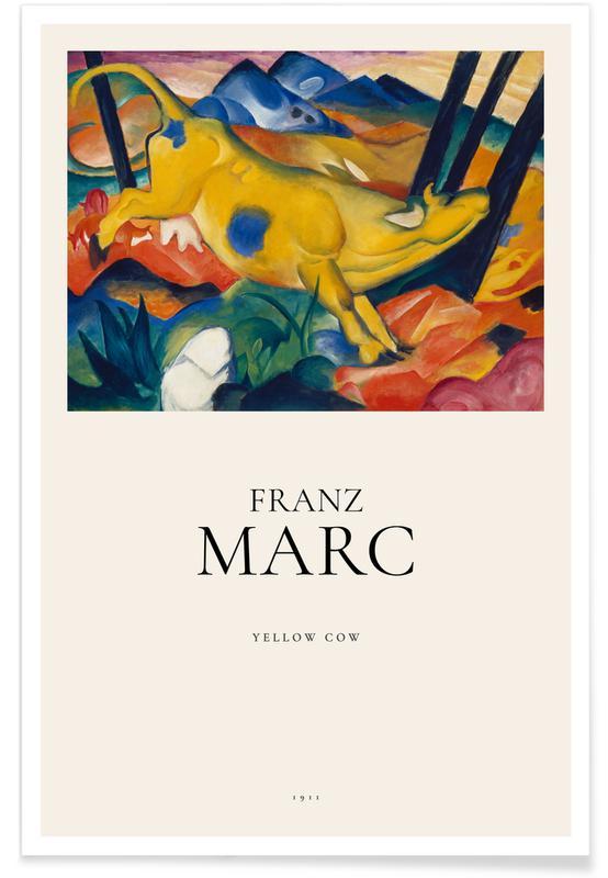 Franz Marc, Franz Marc - Yellow Cow affiche
