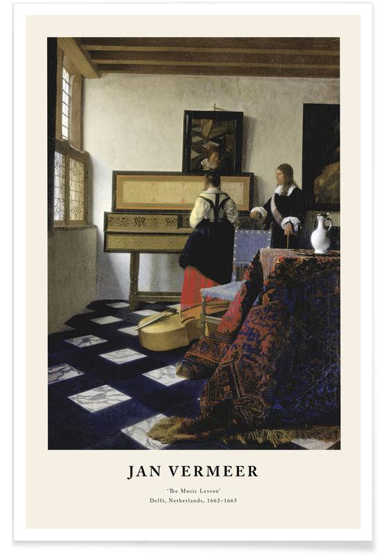 Jan Vermeer van Delft, Jan Vermeer - The Music Lesson Poster