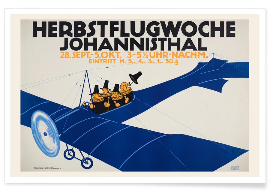 Julius Klinger, Herbstflugwoche affiche
