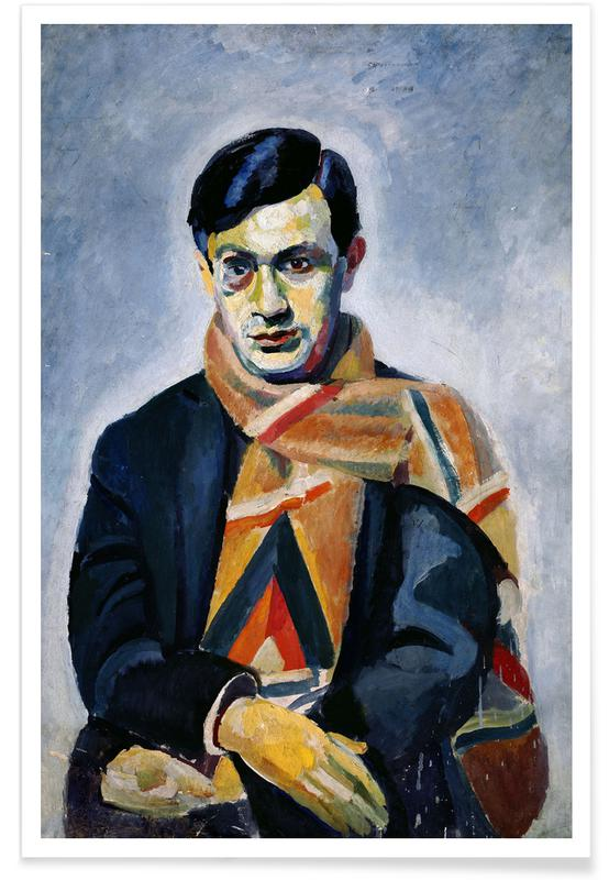 Robert Delaunay, Portraits, Robert Delaunay - Tristan Tzara Poster