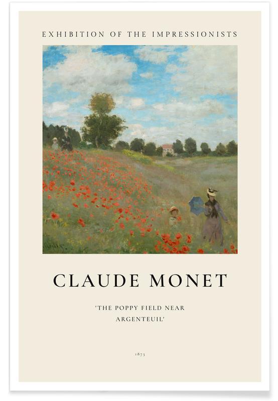 Claude Monet, Monet - The Poppy Field near Argenteuil affiche