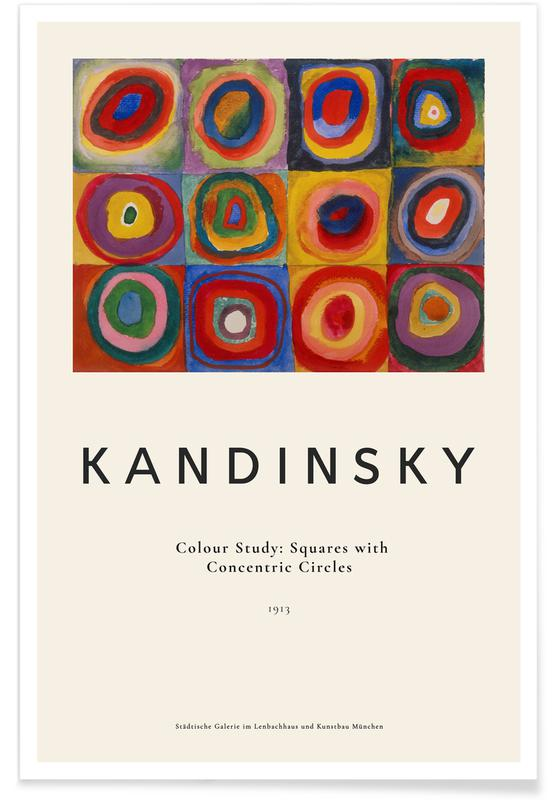 Wassily Kandinsky, Kandinsky - Colour Study: Squares with Concentric Circles affiche