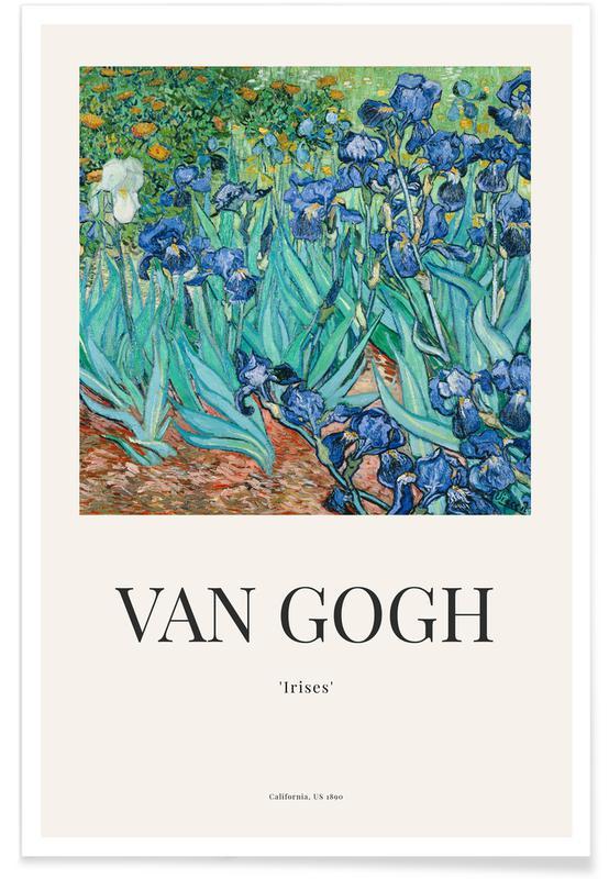 Vincent Van Gogh, van Gogh - Irises affiche