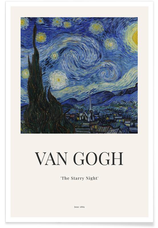 Vincent Van Gogh, Abstrakte Landschaften, van Gogh - The Starry Night -Poster