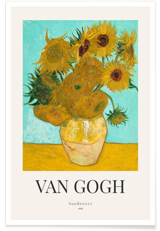 Vincent Van Gogh, Tournesols, van Gogh - Sunflowers affiche