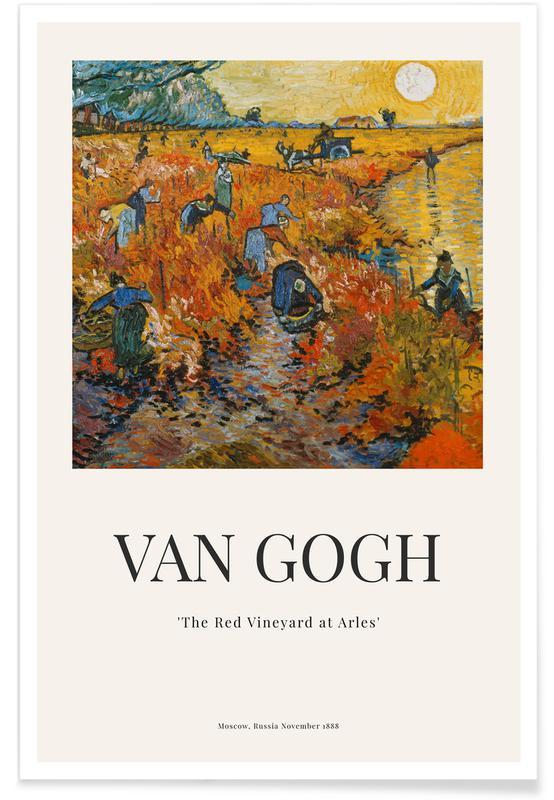 Paysages abstraits, Vincent Van Gogh, van Gogh - The Red Vineyard at Arles affiche