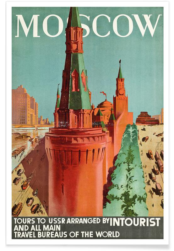 Vintage Travel, Moscow Poster