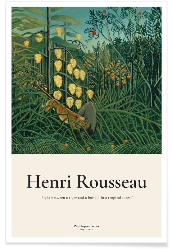 Henri Rousseau, Rousseau - Fight Between a Tiger and a Buffalo affiche