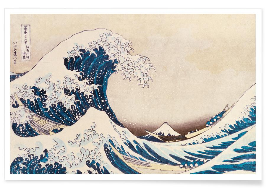 Katsushika Hokusai, Hav, sjö & kustlandskap, Hokusai - The Great Wave off Kanagawa Poster