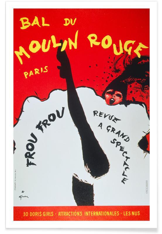 , Bal du Moulin Rouge Paris affiche