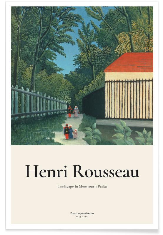 Henri Rousseau, Rousseau - Landscape in Montsouris Park affiche