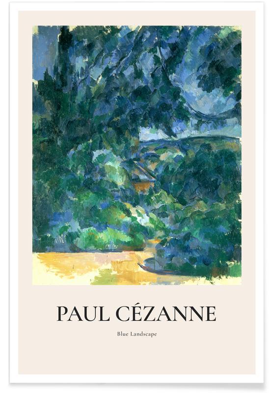 Paul Cézanne, Cézanne - Blue Landscape -Poster