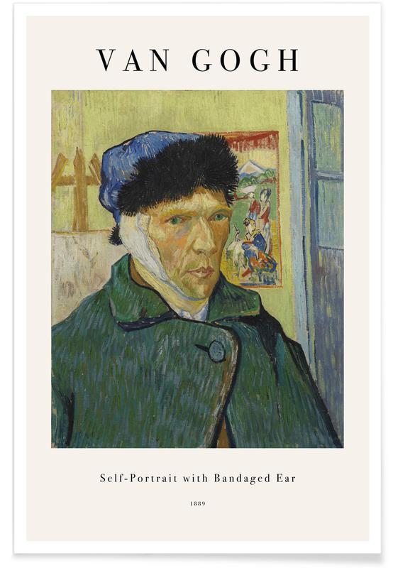 Vincent Van Gogh, Portraits, van Gogh - Self-Portrait with Bandaged Ear affiche