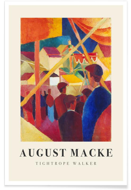 August Macke, Macke - Tightrope Walker affiche