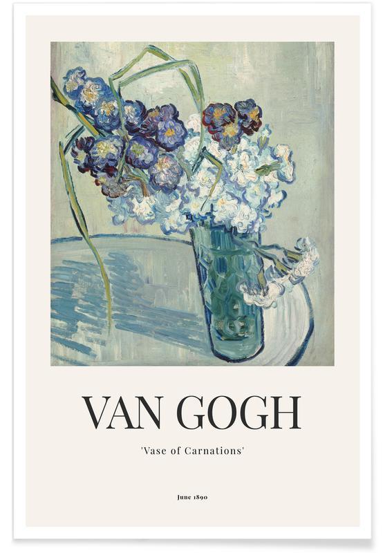 Vincent Van Gogh, van Gogh - Vase of Carnations affiche