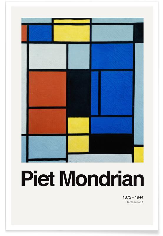 Piet Mondrian, Mondrian - Tableau No.1 affiche