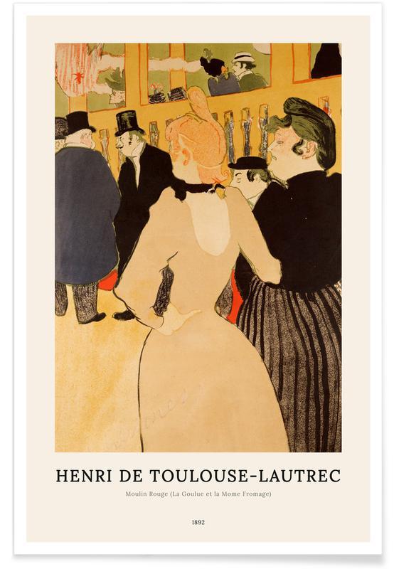 Portraits, Henri de Toulouse-Lautrec, Henri de Toulouse-Lautrec - Moulin Rouge (La Goulue et la Mome Fromage) affiche