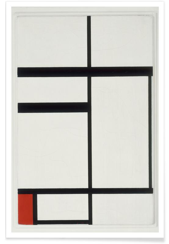 Piet Mondrian, Mondrian - Composition with Red, Black and White affiche