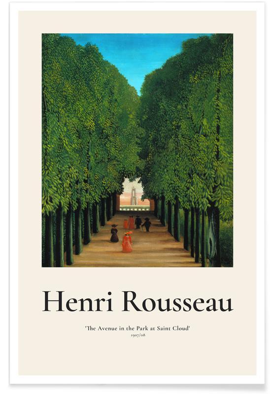 Arbres, Henri Rousseau, Rousseau - The Avenue in the Park at Saint Cloud affiche