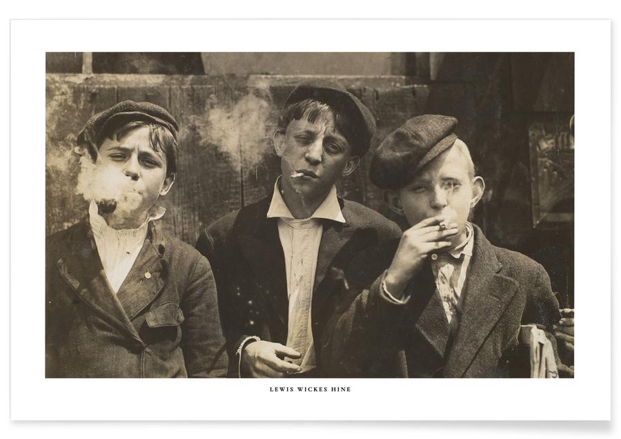 Lewis Wickes Hine, Lewis Wickes Hine - Newsies at Skeeter's Branch, Jefferson near Franklin affiche