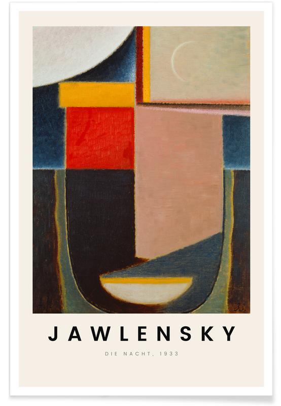 Alexej von Jawlensky, Alexej von Jawlensky - Die Nacht affiche