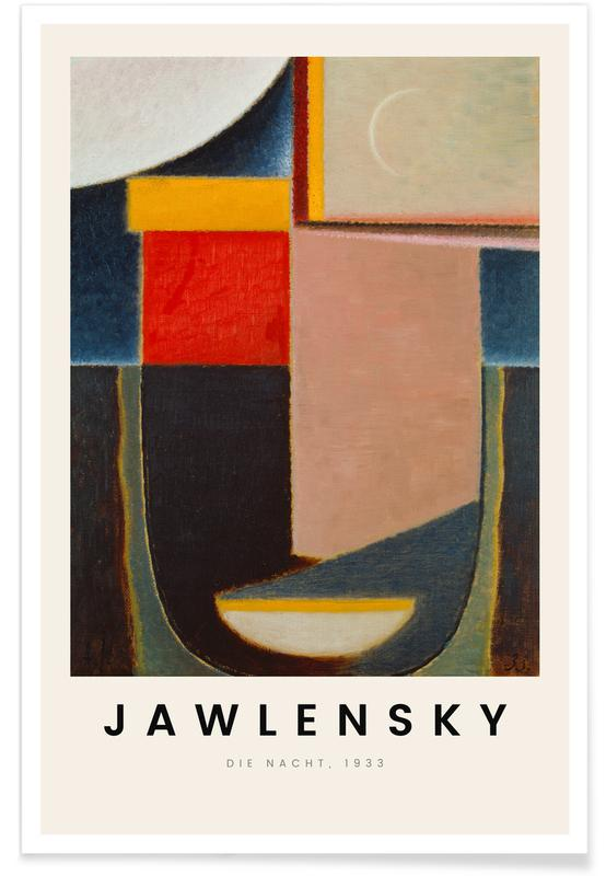 Alexej von Jawlensky, Alexej von Jawlensky - Die Nacht poster