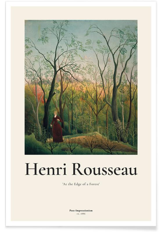 Henri Rousseau, Rousseau - At the Edge of a Forest Poster