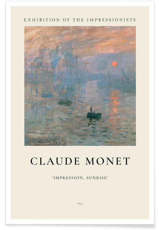 Abstrakte landskaber, Claude Monet, Monet - Impression, Sunrise Plakat