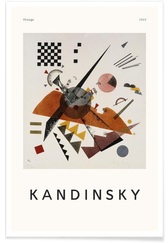 Wassily Kandinsky, Kandinsky - Orange Poster
