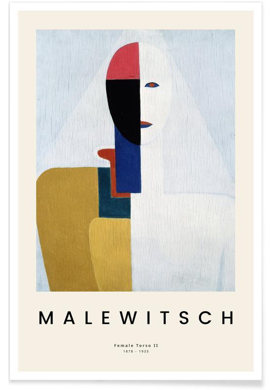 Kasimir Malewitsch, Malewitsch - Female Torso II -Poster