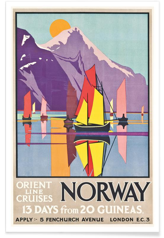 M.V. Jones, M.V. (Molly) Jones - Orient Line Cruises Norway Plakat