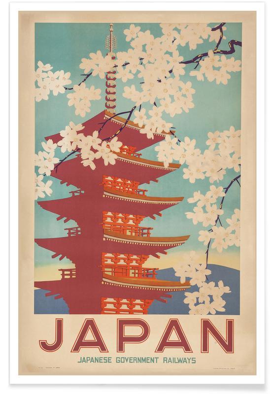 Vintage reis, Kunstklassiekers, Japanese Government Railways poster