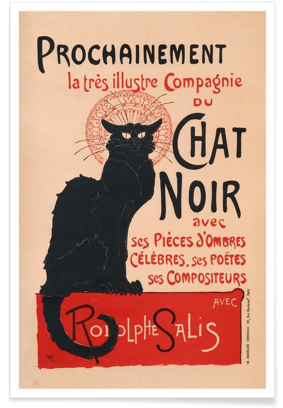 Cats, Théophile-Alexandre Steinlen, Théophile Alexandre Steinlen - Le Chat Noir Poster