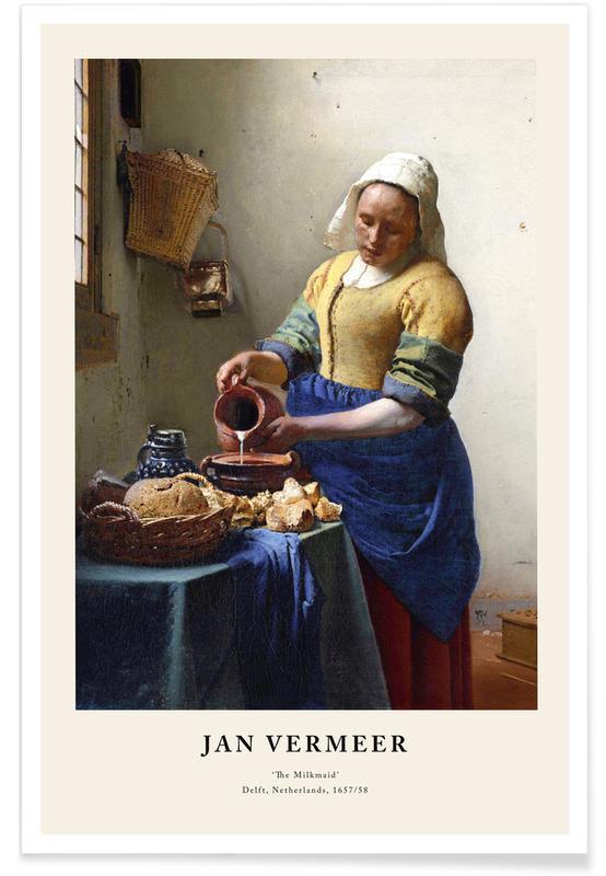 Jan Vermeer van Delft, Portraits, Jan Vermeer van Delft - The Milkmaid affiche