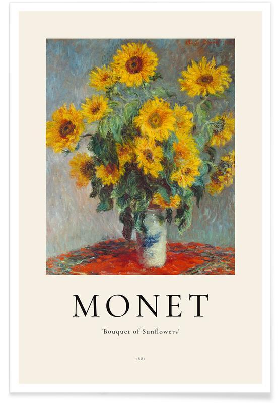 Claude Monet, Sonnenblumen, Monet - Bouquet of Sunflowers -Poster