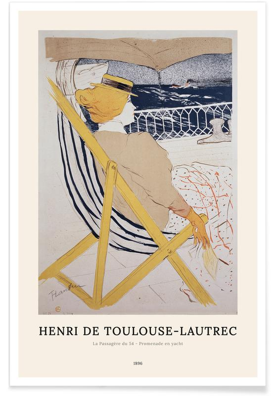 Portraits, Henri de Toulouse-Lautrec, Henri de Toulouse-Lautrec - La Passagère du 54 affiche