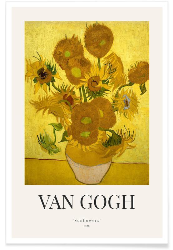 Vincent Van Gogh, Solsikker, van Gogh - Sunflowers Plakat