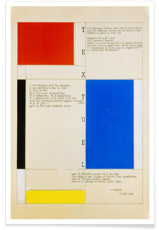 Piet Mondrian, Mondrian - Textuel  (Text by M.Seuphor) affiche