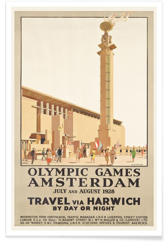 Anton van Anrooy, van Anrooy - A poster advertising the 1928 Olympic Games in Amsterdam affiche