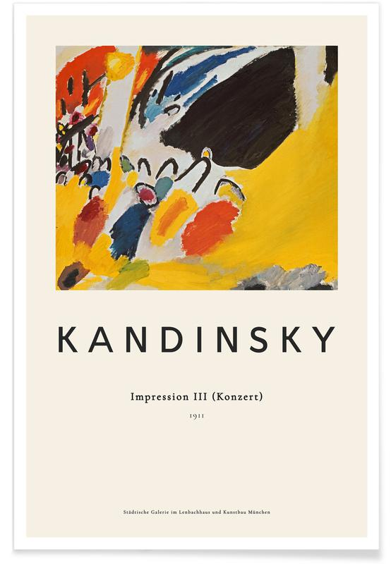 Wassily Kandinsky, Wassily Kandinsky - Impression III (Konzert) affiche