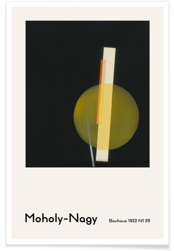 László Moholy-Nagy, László Moholy-Nagy - Bauhaus 1922 N1 26 poster