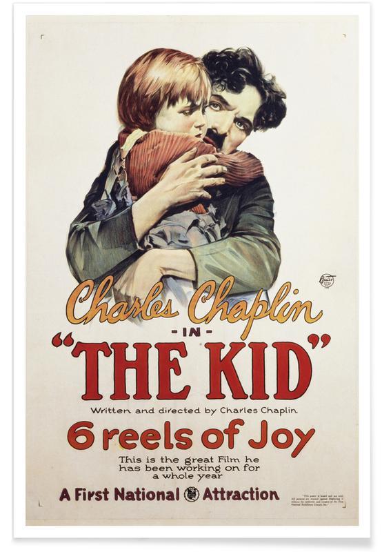 , Charlie Chaplin 'The Kid' affiche