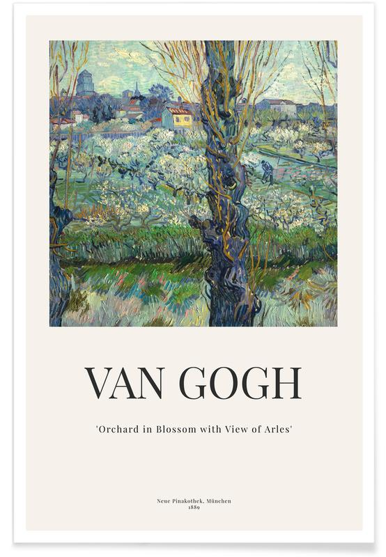 Vincent Van Gogh, van Gogh - Orchard in Blossom with View of Arles affiche