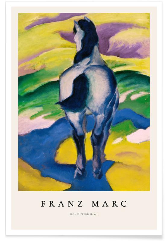 Franz Marc, Chevaux, Franz Marc - Blaues Pferd II affiche