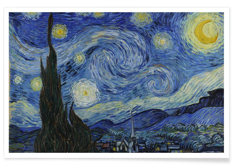 Paysages abstraits, Vincent Van Gogh, van Gogh-The Starry Night II affiche