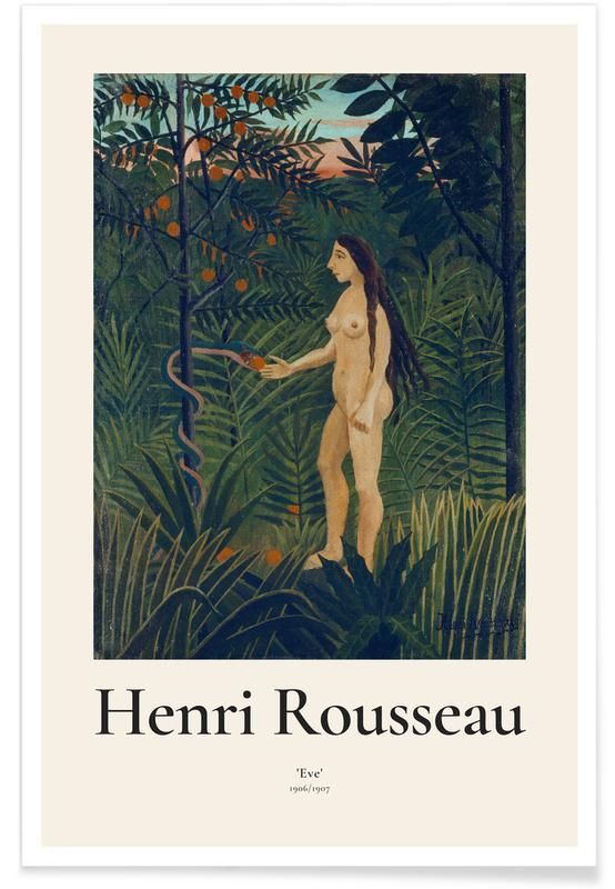 Henri Rousseau, Portraits, Rousseau - Eve Poster