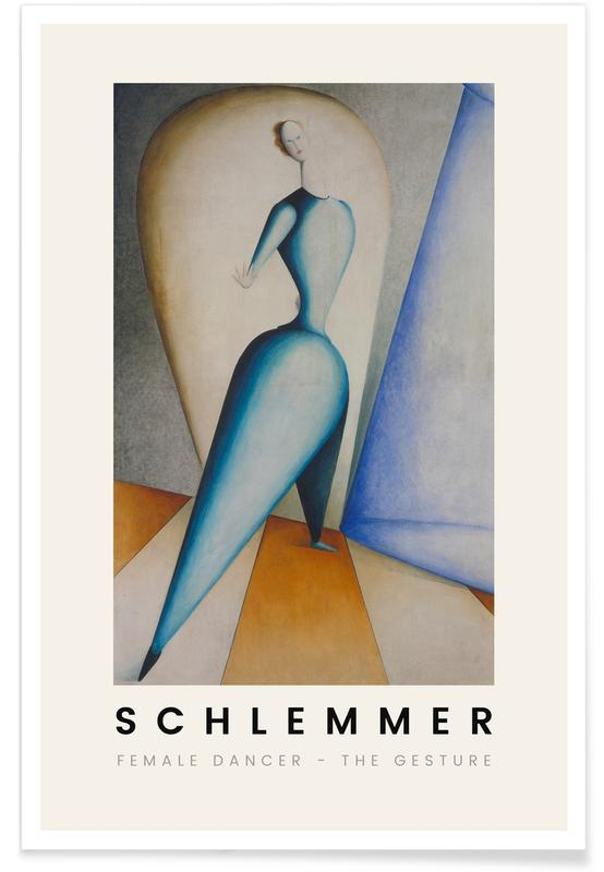 Oskar Schlemmer, Schlemmer - Female Dancer - The Gesture affiche