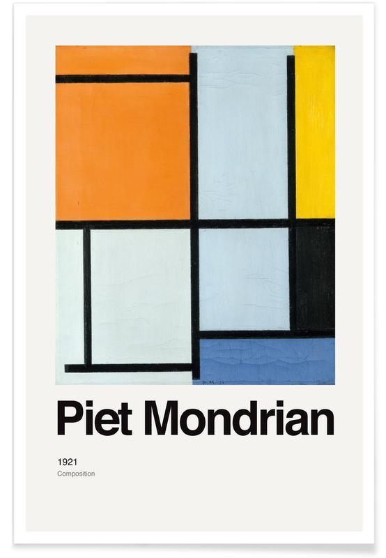 Piet Mondrian, Mondrian - Composition 1921 affiche