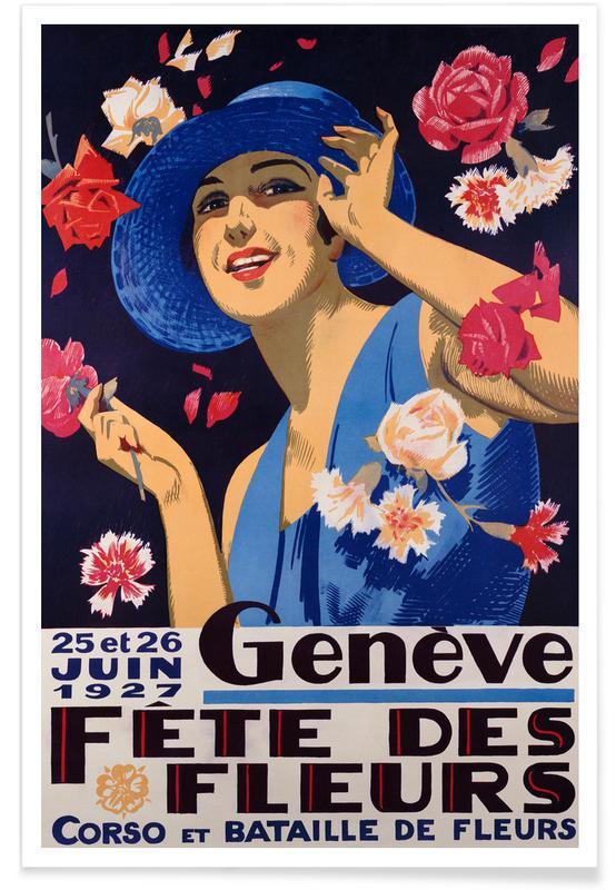 Art Classics, Geneva, Festival of the Flowers Poster